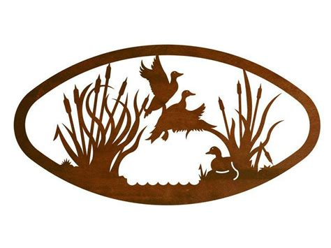 Oval Wall Decor by 22 Quot Oval Ducks In The Marsh Metal Wall Birds Wall Decor