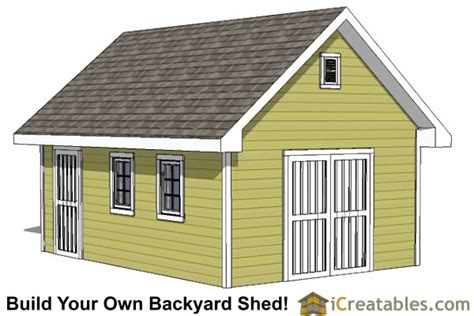 garden shed delivery storage building plans 14x20