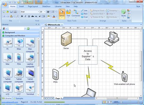 Visio Network Diagram Templates With Exles Visio Network Templates