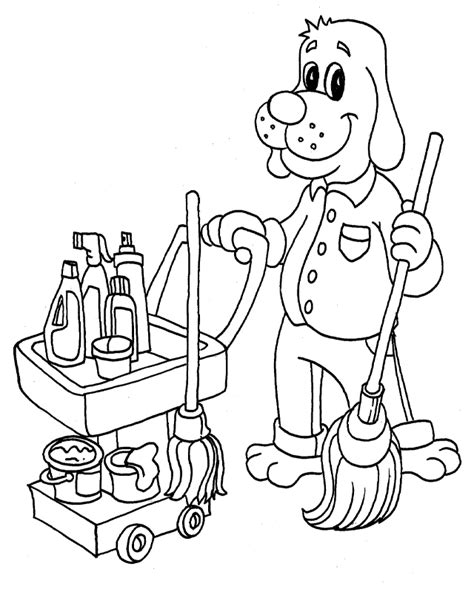 house cleaning coloring pages free coloring pages printable coloring pages from
