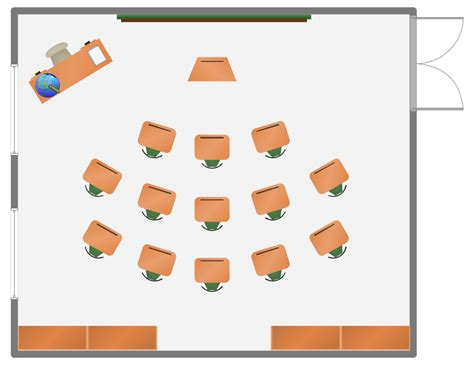 create classroom floor plan school and training plans solution conceptdraw com