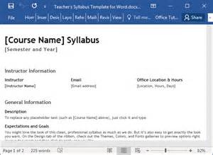 course syllabus template s syllabus template for word