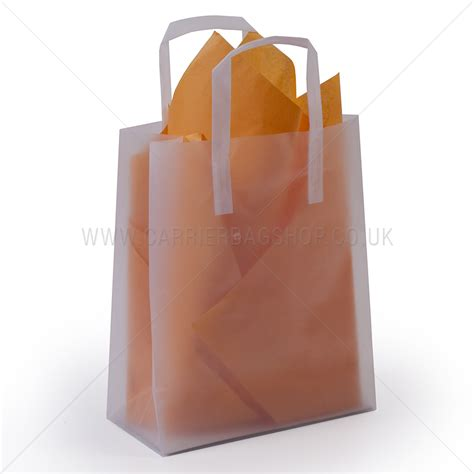 Gift Bag The Shop premium frosted plain plastic gift bags
