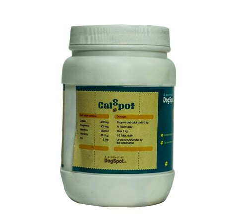 calcium supplements for dogs calspot calcium supplement for 160 tablets dogspot pet supply store