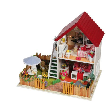 wooden dolls houses for children diy wooden doll house assembling toys for children s christmas gift cute miniature