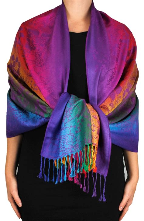 Pashmina Rainbow wholesale rainbow purple pashmina