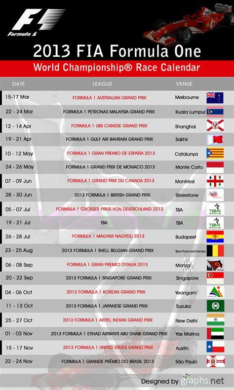 Formula 1 Calendar 2013 Formula 1 Race Calendar 2013 Calendar Template 2016
