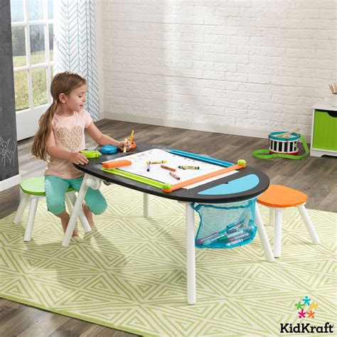 Kidkraft Chalkboard Table With Stools by Kidkraft Deluxe Chalkboard Table With Stools 3 Years