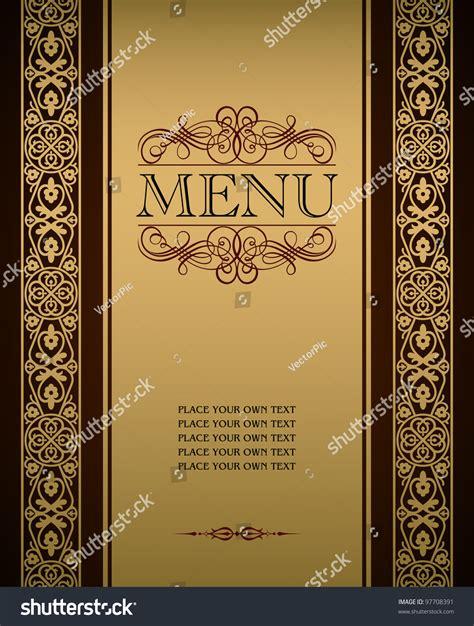 menu cover design vector menu cover vector design 97708391 shutterstock