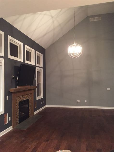 benjamin moore burnt ember  coventry gray living room