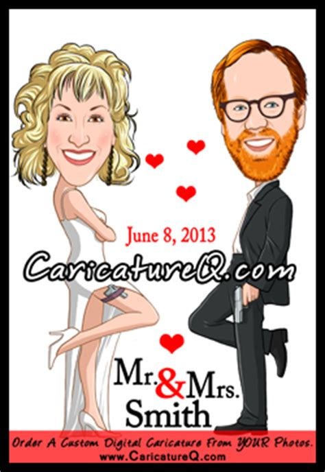 New Wedding Caricatures Wedding Invitation Ideas Wedding Date Claimers Wedding Gifts Mr And Mrs Smith Save The Date Template