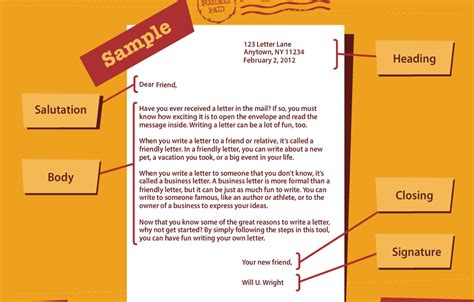 how to format a friendly letter friendly letter format images