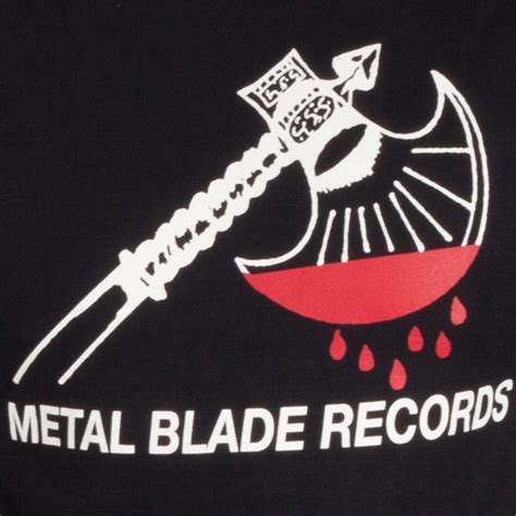 Metal Blade Records metal blade records quot axe logo quot t shirt indiemerchstore