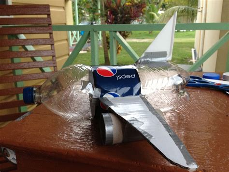airplane made airplane made from pepsi plastic bottle cardboard
