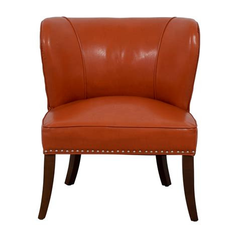 orange nailhead accent chair chairs