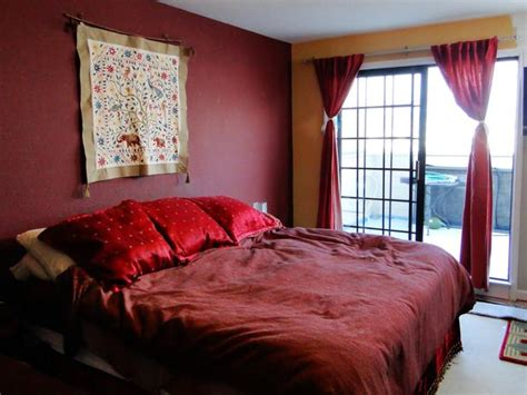 wine red bedroom dipped in cranberry monochromatic rooms