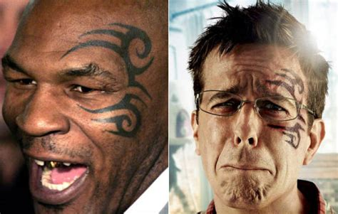 hangover face tattoo mike tyson s artist sues to halt release of the