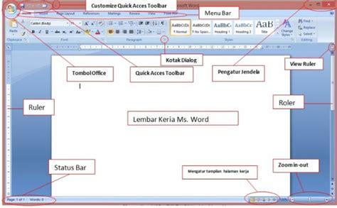 fungsi layout pada microsoft word mengenal fungsi bagian bagian menu pada microsoft word 2007