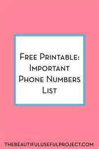 important numbers template free printable important phone numbers the beautiful