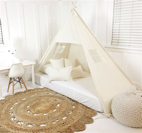 play bed play tent canopy bed in natural canvas