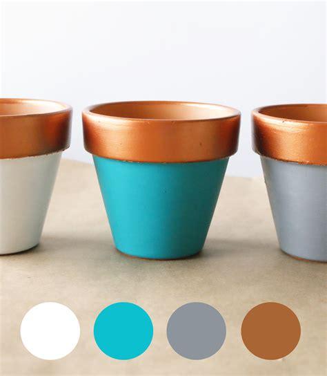 copper color combinations copper dipped planter diy jillianastasia
