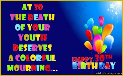 Happy Birthday 30th Wishes 30th Birthday Wishes Quotes And Messages Wishesmessages Com