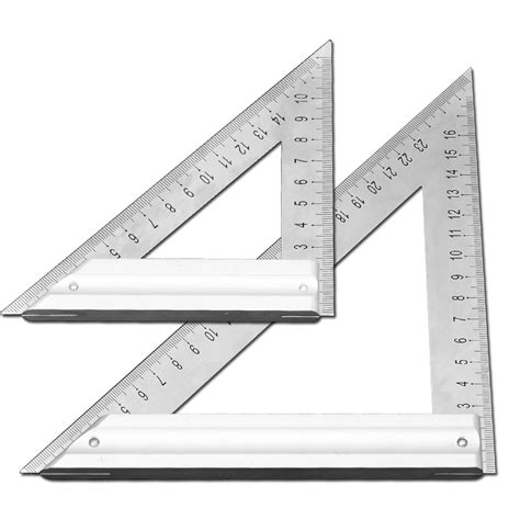 triangular one length with triangular 90 degree square thick stainless steel triangular ruler