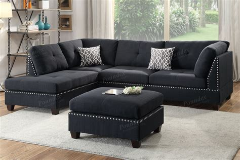cheap fabric sectional sofas black fabric sectional sofa and ottoman steal a sofa