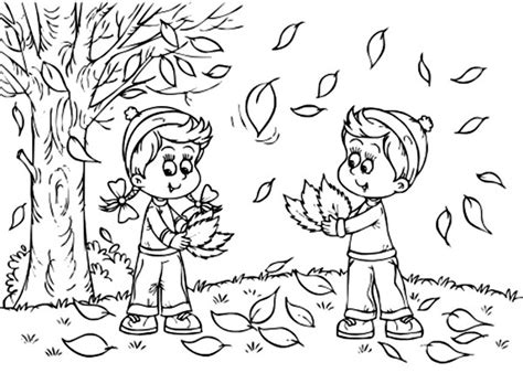 coloring page fall fall leaves coloring pages 2016