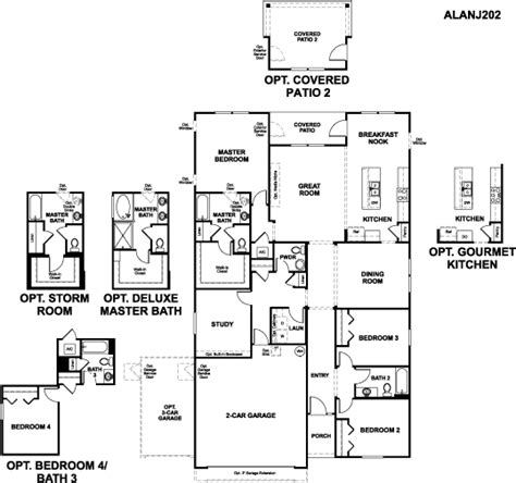 Alans Plans Com by Alan Floor Plan At Treaty Oaks