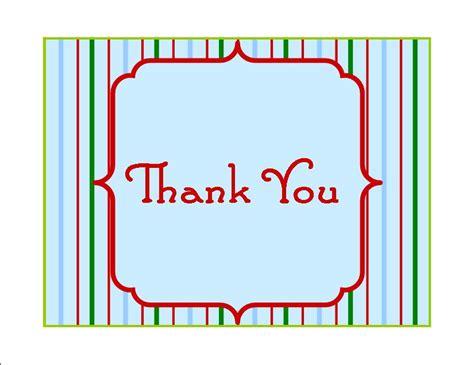 printable christmas thank you postcards 7 best images of christmas thank you cards free printables