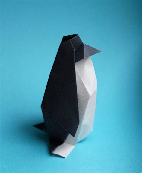 Origami Penguin Folding - make an origami penguin how about orange