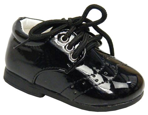 Black Babyheels tiny baby newborn boys black laces christening