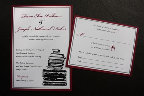 wedding invitations book best selection of book themed wedding invitations