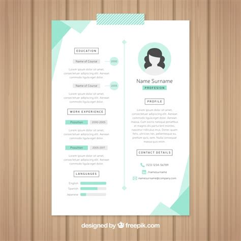 beautiful resume template vector free download