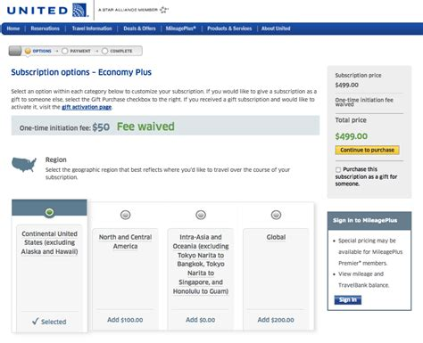 united baggage fees unitedus new economy plus packages united re introduces economy plus subscriptions and