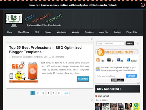 beautiful style seo friendly premium blogger template free