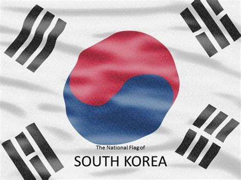powerpoint templates korea south korea flag powerpoint template