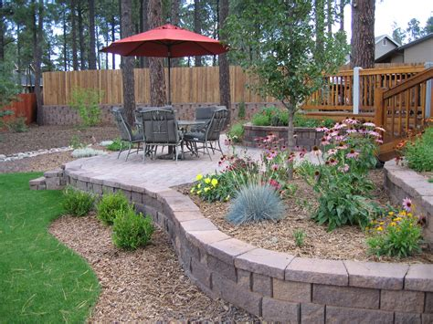 chiminea landscape ideas backyard patio design sloped pictures small landscaping