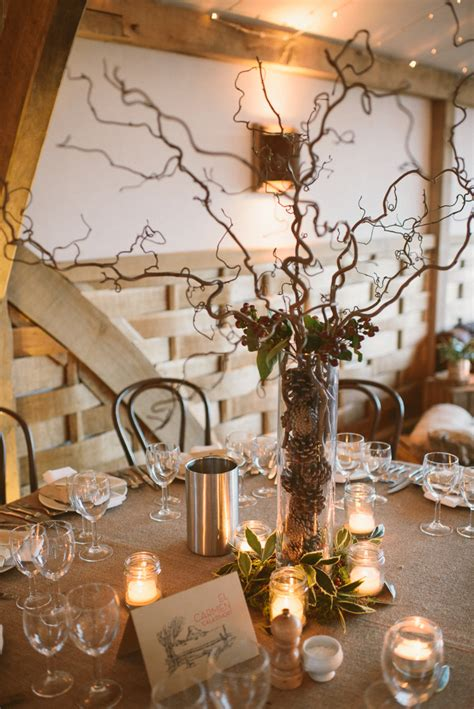 home decor centerpieces a rustic winter wedding at cripps barn with diy home made decor and halfpenny london bridal gown