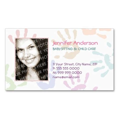 buisness cards aand templates for child care 140 best images about babysitting business cards on