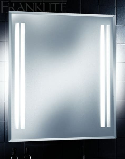 illuminated bathroom mirror with shaver socket franklite frn25el ip44 illuminated bathroom mirror with