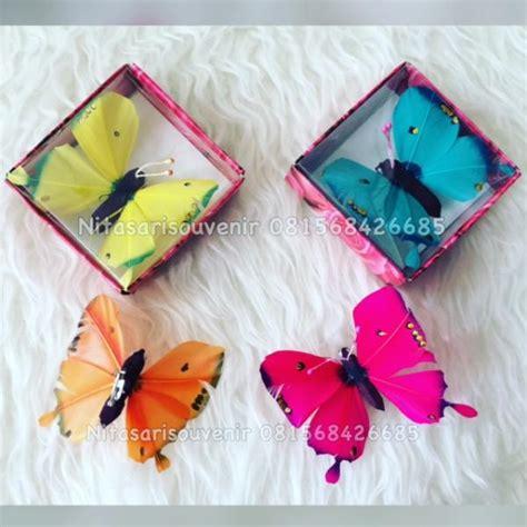 Souvenir Centong Kerang Kemas bros kupu kupu