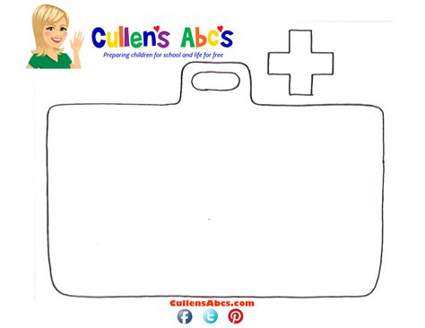 doctor bag craft template doctor s bag with cross preschool and
