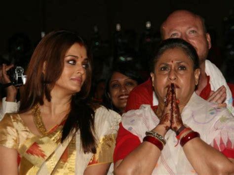 aishwarya rai jaya bachchan aishwarya rai got embarrassed when jaya bachchan shouted