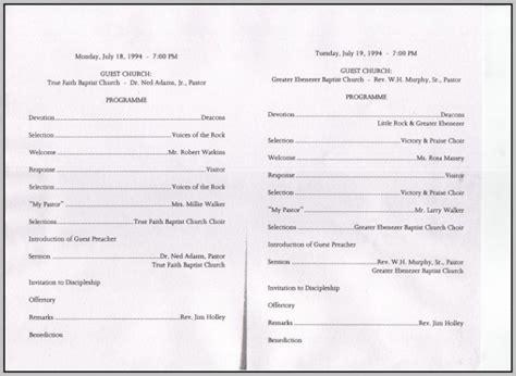 Anniversary Program Outline Template Resume Exles Agdrg75knl Baptist Church Program Templates