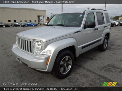 silver jeep liberty 2008 bright silver metallic 2008 jeep liberty sport pastel