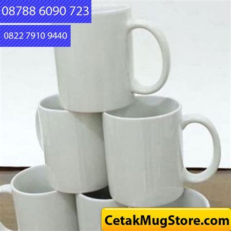 Mug Putih Standart cetak mug nk standar putih 08788 6090 723