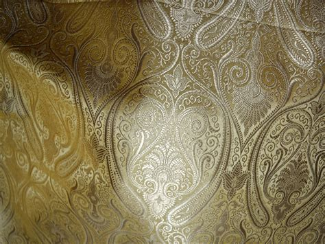 brocade upholstery beige brocade fabric by the yard benarase fabric