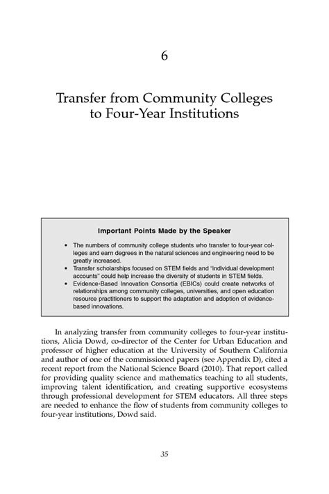 community colleges in the evolving stem education landscape 6 transfer from community colleges to four year